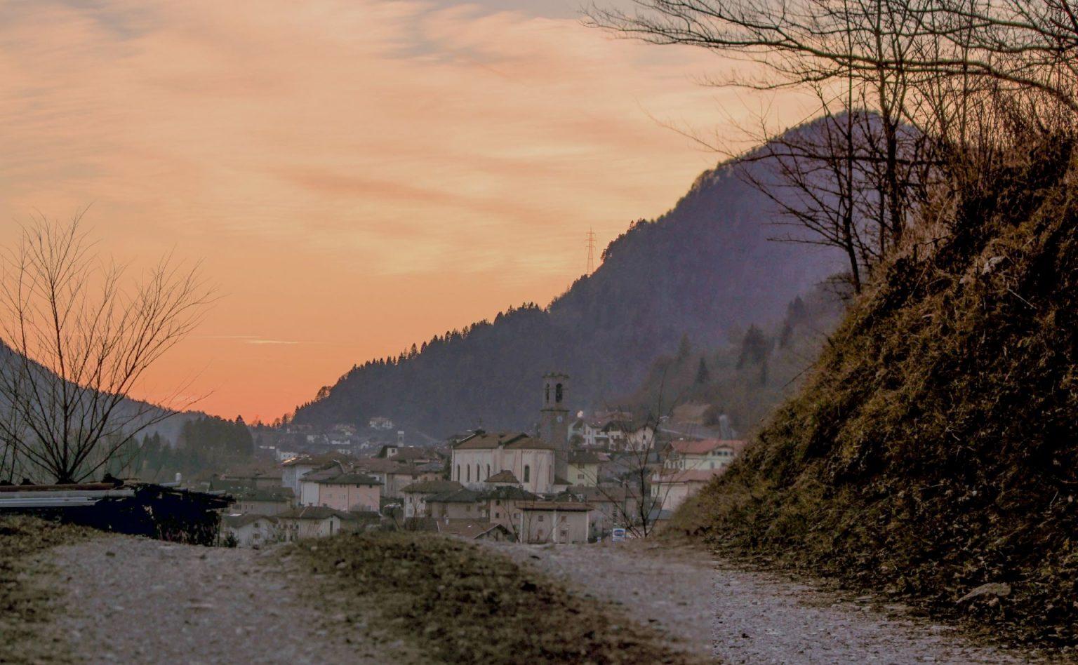 Breguzzo al tramonto